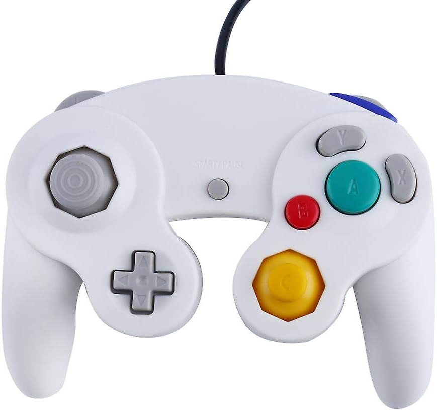 Gamecube Controller - Wired Joystick Gamepad Classic - Durable Quality - Ultra Responsive - Video Game Console Control - Ideal for Nintendo Gamecube Console Wii Wii U NGC GC (White): Computers & Accessories