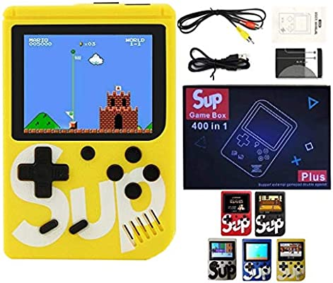 Sup Game Box Plus 400 In 1 Retro Games Upgraded Version Mini Portable Console Handheld Gift By Prime Tech Yellow Buy Online At Best Price In Uae Amazon Ae