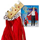 Beistle 60252 Child King/Queen Robe with Crown, 33-Inch