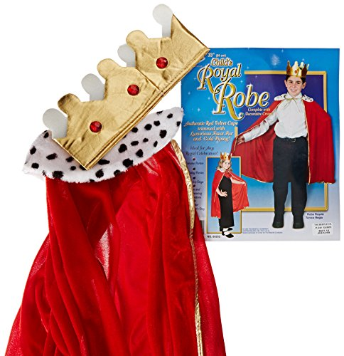 Beistle 60252 Child King/Queen Robe with Crown, 33-Inch]()