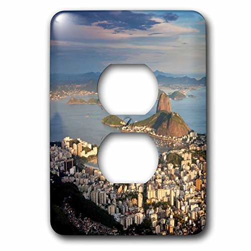 Danita Delimont - Brazil - View over Sugarloaf mountain in Guanabara Bay, Rio de Janeiro - Light Switch Covers - 2 plug outlet cover - Outlet Sugarloaf