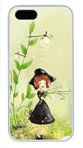 iPhone 5 5S Case Cute Black Dress Little Girl PC Custom iPhone 5 5S Case Cover White