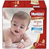 Huggies Little Snugglers Baby Diapers, Size 2, 186 Count, ECONOMY PACK (Packaging May Vary)