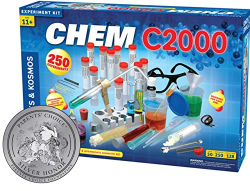 Thames & Kosmos Chem C2000 (V 2.0) Chemistry Set with 250 Experiments and 128 Page Lab Manual, Student Laboratory Quality Instruments & Chemicals -