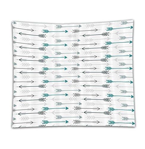 Beshowereb Fleece Throw Blanket Teal Decor Set Retro Arrow Pattern In Horizontal Line Heading To Opposite Directions Artwork Grey - Francisco San Shopping South