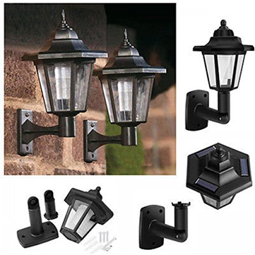 LtrottedJ Solar Power LED Light Path Way Wall Landscape Mount Garden Fence Lamp Outdoor