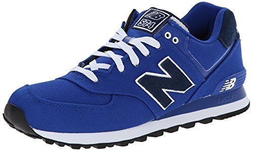 888546365520 - New Balance Men's ML574 Pique Polo Pack Classic Running Shoe, Blue, 7 D US carousel main 0