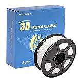 DAZZLE LIGHT 3D Printer PLA Filament 1.75mm Dimensional Accuracy +/- 0.02 mm 2.2 LBS (1KG) Spool, White