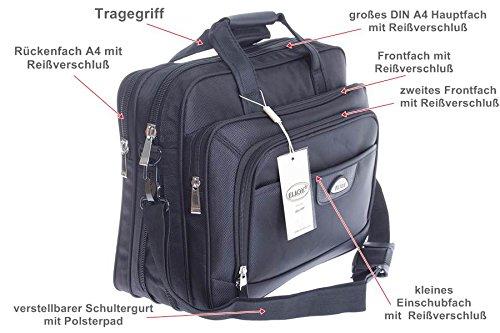 XXL BAG TASCHE FLUGBEGLEITER MESSENGER UMHÄNGETASCHE ARBEITSTASCHE HERRENTASCHE (8010) 8010