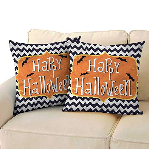 Godves Square Lumbar Cushion Cover Halloween Doodle Style