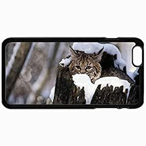 Customized Cellphone Case Back Cover For iPhone 6, Protective Hardshell Case Personalized Cat Black
