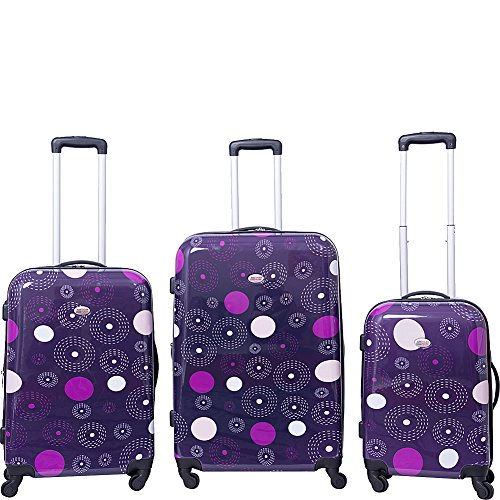 american-flyer-fireworks-3-piece-hardside-spinner-luggage-set-purple