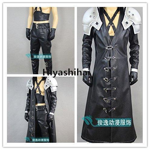 「ノーブランド品」ファイナルファンタジーXII セフィロス コスプレ衣装+肩鎧+手袋