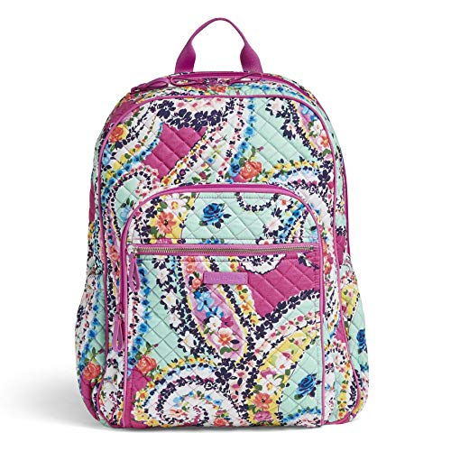 Vera Bradley Iconic Campus Backpack, Signature Cotton, Wildflower Paisley