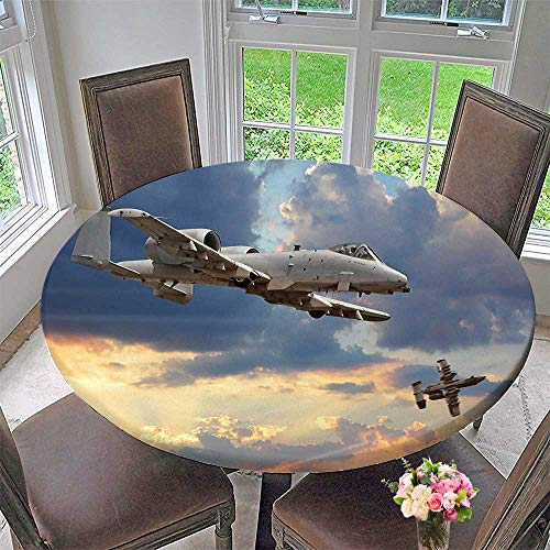 Round Tablecloth Peacekeepers Mission Jet Up International Military Force Combat for Kitchen 67