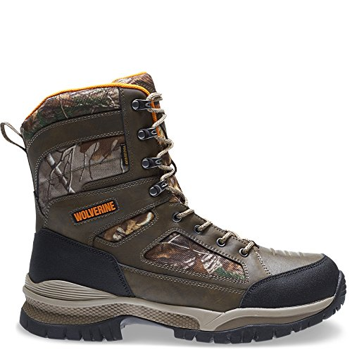 Wolverine Men's Rocket Waterproof Insulated Hunting Shoes, Natural/Mossy Oak, 12 - Michigan Oaks Twelve