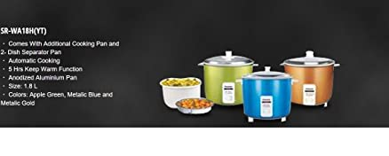 Panasonic SR-WA18H (YT) 1.8 L Automatic Rice Cooker