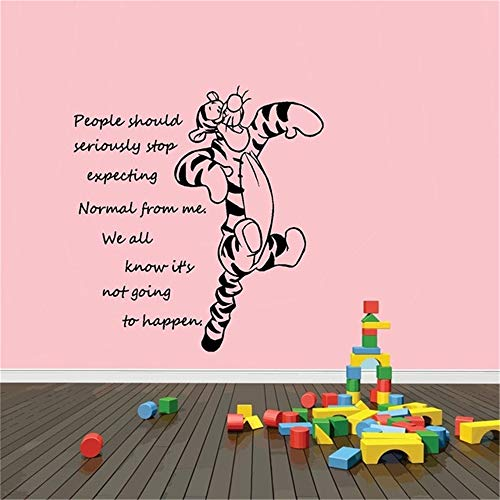 Nisou Wall Decal Sticker Art Mural Home Decor Quote Winnie The Pooh Tigger Cartoon Characters Decals Stickers Wall Children's Room Decals