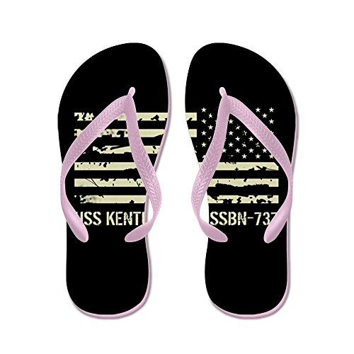 Cafepress Uss Kentucky - Flip Flops, Grappige String Sandalen, Strand Sandalen Roze