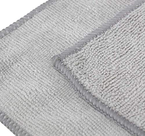 The Rag Company (20-Pack) 10 in. x 10 in. All-Purpose Microfiber Highly Absorbent, LINT-Free, Streak-Free Cleaning Towels (Grey) by The Rag Company (Image #1)