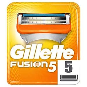 Gillette Fusion 5 Lames de Rasoir Homme Homme, Pack de 5 Lames de Recharges, Ancienne Version