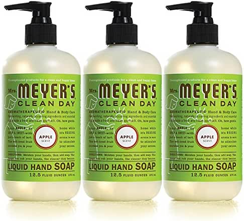 Mrs. Meyer's Liquid hand soap, Apple, 12.5 Fluid Ounce (Pack of 3)