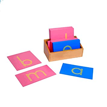 montessori sandpaper letters lower case cursive with box