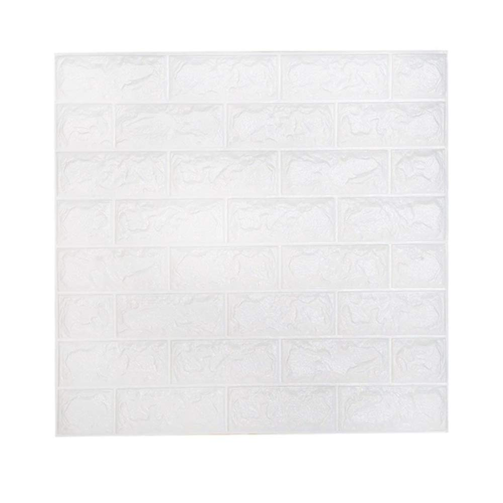 10 Piece 3D Brick Wallpaper, Removable Peal and Stick PE Foam Wall Sticker for Living Room Home Office (10 Brick)