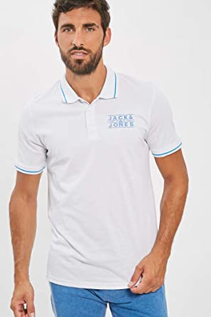 JACK & JONES Rado - Polo de Manga Corta, Color Blanco Blanco ...