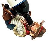 Country Cowboy Wild Wild West Wine Guzzler Holder Kitchen Decor Resin Figurine