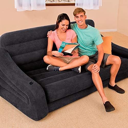 Intex 68566NP - Sofá cama hinchable doble 193 x 221 x 66 cm