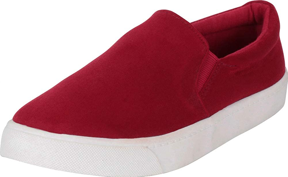 Cherry Imsu Cambridge Select Women's Classic Round Toe Stretch Slip-On Flatform Fashion Sneaker