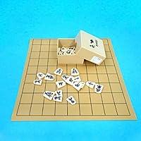 将棋セット 塩ビ将棋盤とプラスチック製駒歩心のセット
