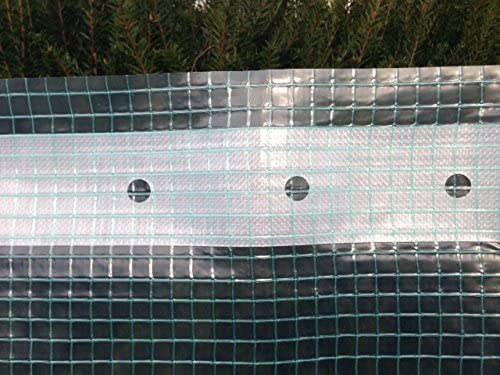 Sold by The metre HaGa/® Grid foil for Greenhouse Construction foil Tunnel in 4 m Width