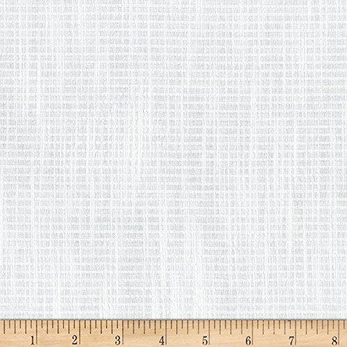 Robert Kaufman Kaufman Cote D'Azur Seersucker 1/16 in Stripe W/Slub White Fabric by The -