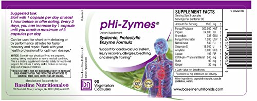 Baseline Nutritionals Phi Zymes Systemic Proteolytic