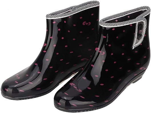 Duokon Botas de Lluvia Antideslizantes para Mujer cómodas y Resistentes al Agua Zapatos de jardín Botas para la Lluvia con Tobillo para Mujer (39): Amazon.es: Hogar