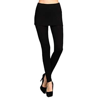 Activewear Heyhun Womens Athleisure Ultra Soft Knit Foldover Ruched Skirted Yoga Leggings Attractive Appearance Women's Clothing