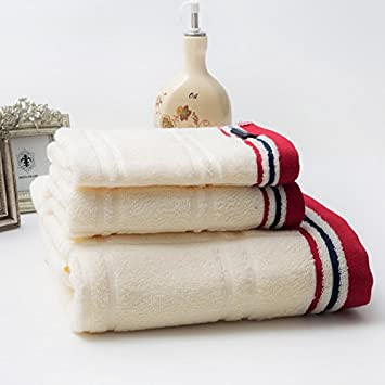 Toallas Kit toallas albornoces tres piezas de color sólido lavado de la cara de puro algodón absorbente grueso Hotel para los niños Parejas, ...