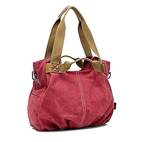 Aisa Womens Casual Canvas Tote Vintage Hobo Daily Purse Top Handle Shoulder Bag Shopper Handbag
