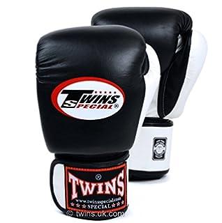 Twins 2/Tone Schwarz//Wei/ß Boxhandschuhe Muay Thai Boxhandschuhe Twins Special UK Verk/äufer