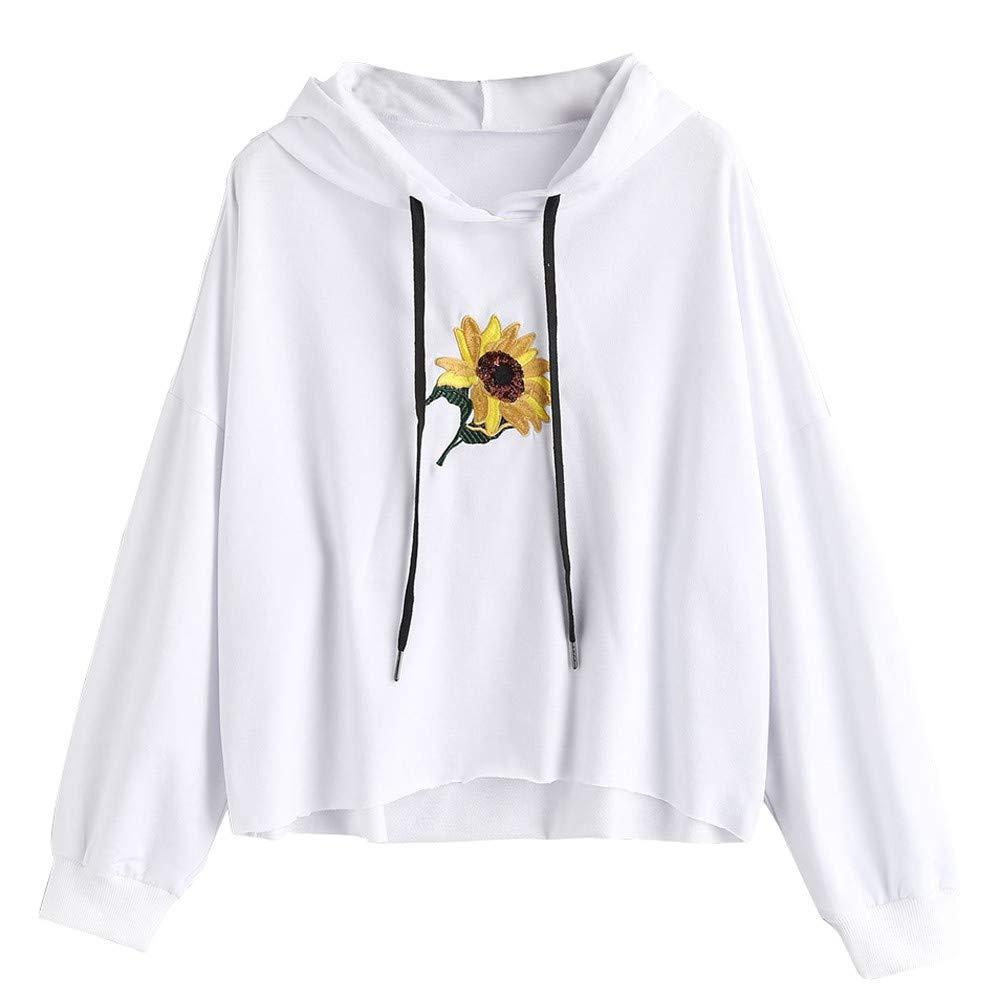 Londony Fashion Sweatshirts in Women Daisy Print Hoodie Sweatshirt Teen Sweater Pullover 815 Tops Londony008