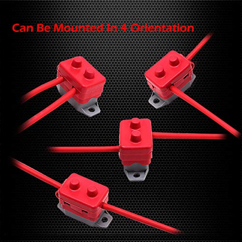 2Pcs DC 12V 24V Automatic Reset Circuit Breaker Fuse Stud Bolt 40 Amp Type 1 with Cover Stud Bolt for Automotive and More