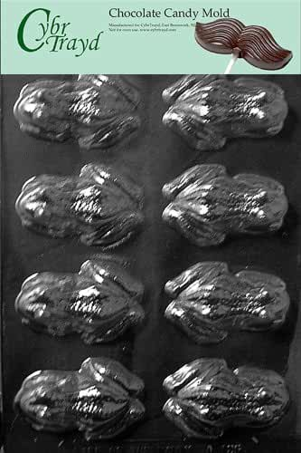 Cybrtrayd A126 Frog Chocolate Candy Mold with Exclusive Cybrtrayd Copyrighted Chocolate Molding Instructions