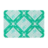 "KESS InHouse AS1020BBM02 Bath Mat Anneline Sophia ""Diamonds Mint"" Green Seafoam Memory Foam Bath Mat, 24"" X 36"",,"