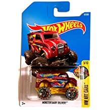 Hot Wheels 2017 Monster Dairy Delivery HT Art Cars Red 62/365, Long Card by Mattel
