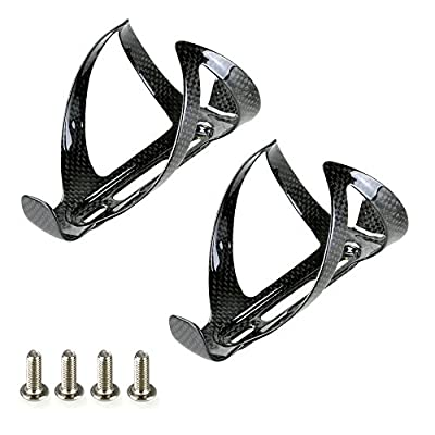 2pcs Carbon Fibre Water Bottle Cages Black For Cycling Road Bike Bicycle MTB