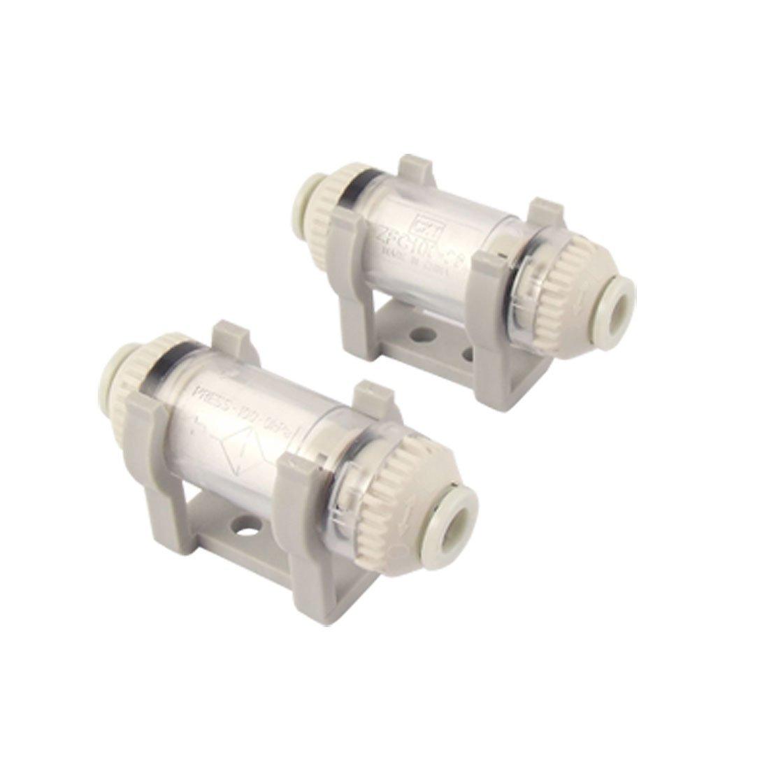 6 mm Diá metro en tipo de hilo de Air con ventosa de filtro para aspiradora zfc100-06-b 2 piezas Sourcingmap a11062900ux0133