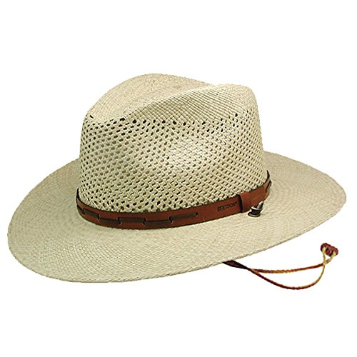 Stetson Men's Stentson Airway Vented Panama Straw Hat, Natural, Large ()