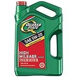 quaker motor oil - Quaker State 550044934 High Mileage 5W-20 Motor Oil (GF-5), 5 quart
